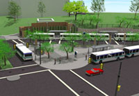 Rendering of transit center improvements at 7th Street and Minnesota Avenue