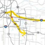 Jackson County Commuter Corridors AA study map